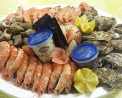Plateau de fruits de mer varié à partir de 15€ par personne